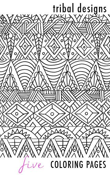 Tribal Designs 5 Coloring Pages Pattern Coloring Pages Coloring