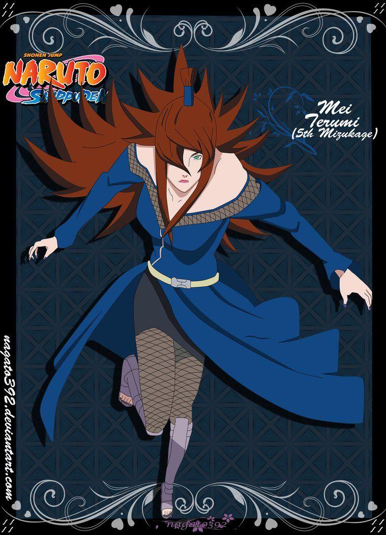 mei terumi mizukage render by xuzumaki on deviantart anime