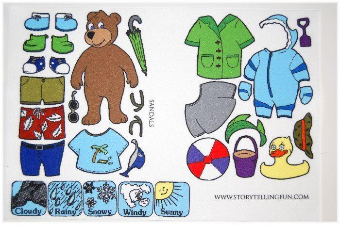 Dress Up Weather Bear Printables weather Bear felt, Flannel