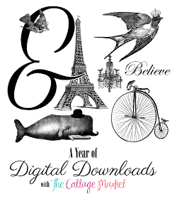 The Cottage Market: 50 FREE Digital Download Printables/Transfers -- Just click to enlarge and then save