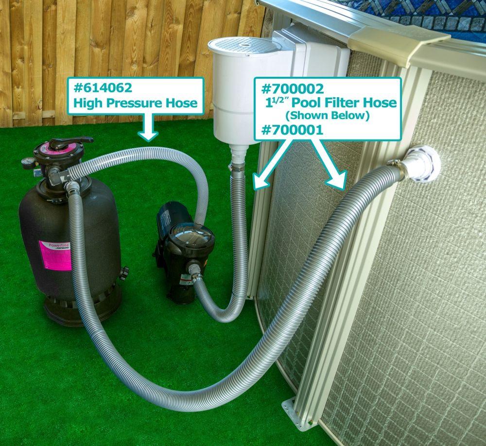 """1½"""" High Pressure Hose (PumptoFilter) 3' Length Pool"""