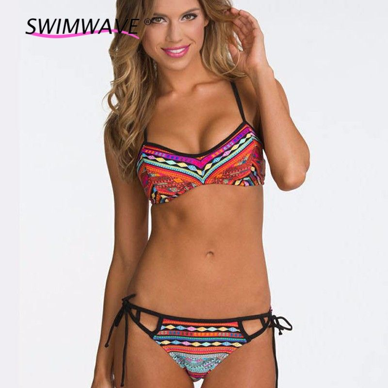 1ecaac0b23 Find More Bikinis Set Information about Brand New Tankini Swimsuits Women  Retro Print Two Piece Halter Bikini Set with Low Waist Short Beach Sexy  Swimming ...