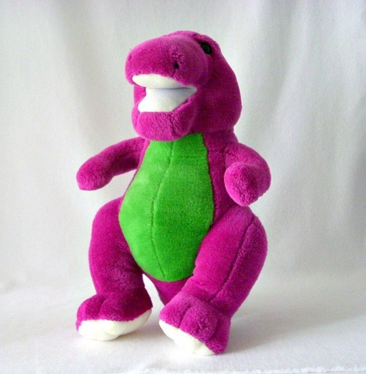 RARE Barney The Dinosaur Plush By Gund 1991, Backyard Gang