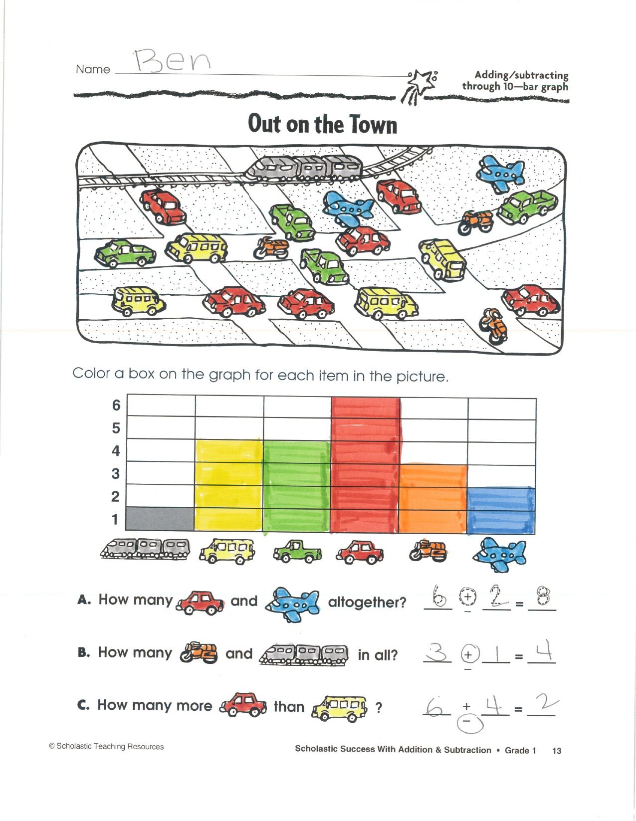 Children Practice Addition And Subtraction Through 10