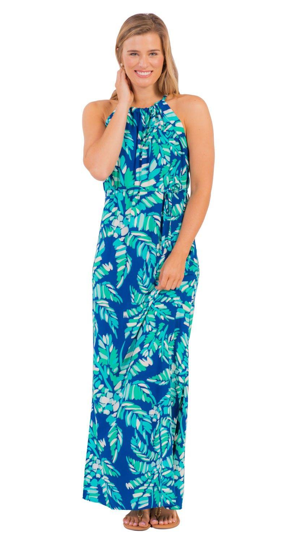 Sleeveless Alice Maxi Dress | Palm print maxi dress | Long palm ...