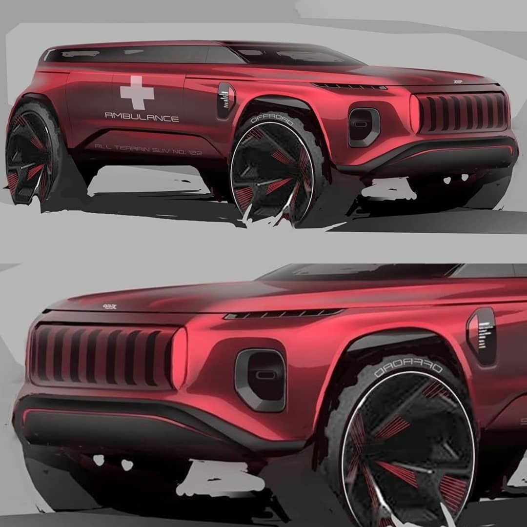 Car Design Italy On Instagram Jeep Sketch By Green Guo
