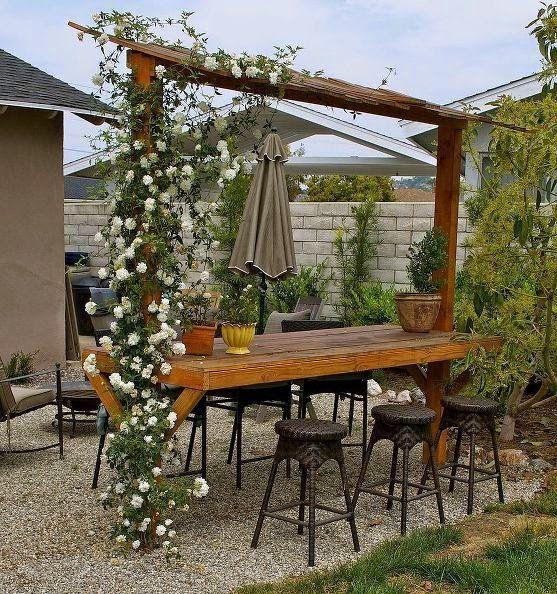 25 ideas de dise os r sticos para decorar el patio con for Zocalos rusticos para patios
