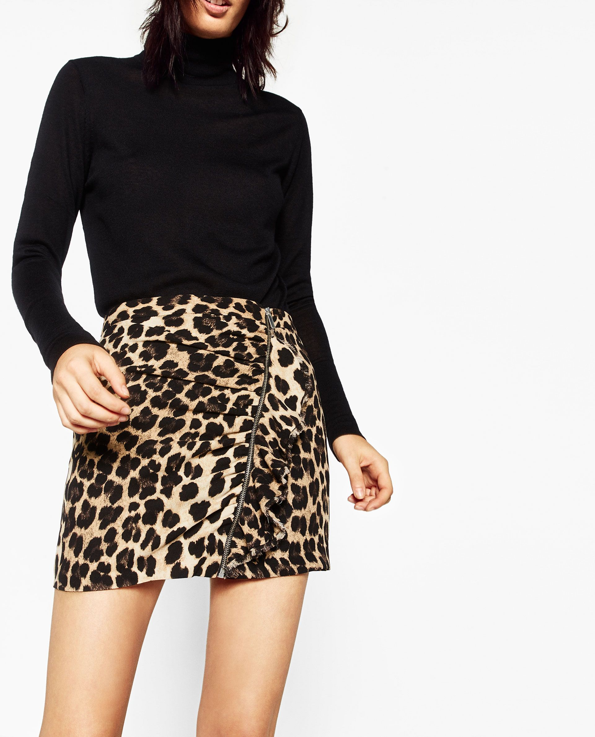 special selection of harmonious colors how to buy ZARA - WOMAN - ANIMAL PRINT MINI SKIRT | My style | Printed ...
