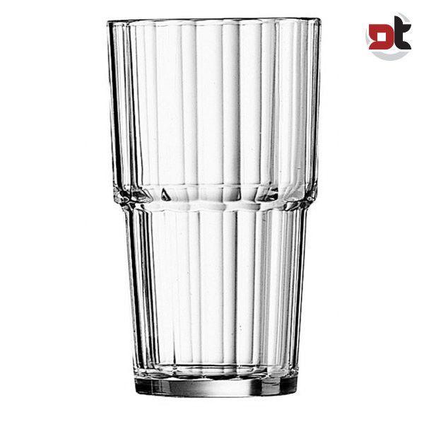 Dettagli su [6pz] Bicchieri Impilabili Norvege 32 cl Vetro