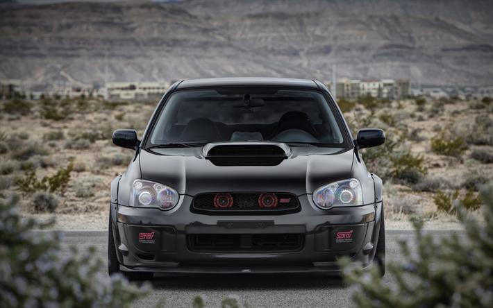 Download Wallpapers Subaru Impreza Wrx Sti 4k Front View Tuning