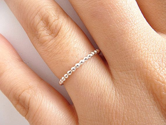 Sterling Silver Stack Ring Thin 1.5mm Ring by PRECIOUSWINGSCOM ...