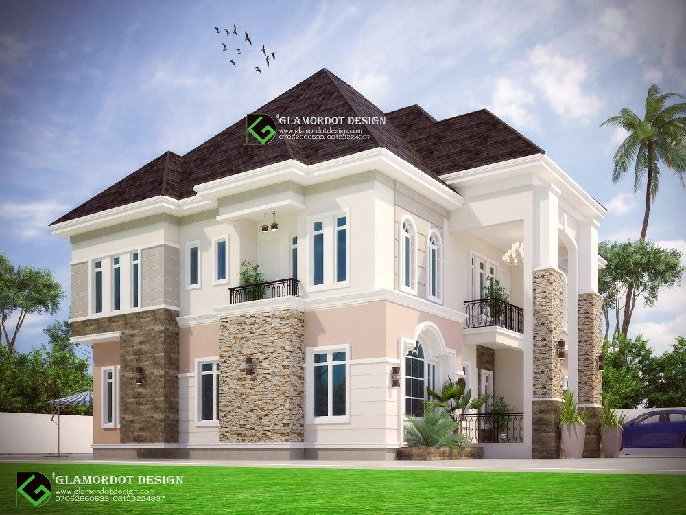 Architectural Design Of A Proposed 6 Bedroom Duplex In Anambra State Nigeria View 2 Duplex House Design Duplex Design Building House Plans Designs