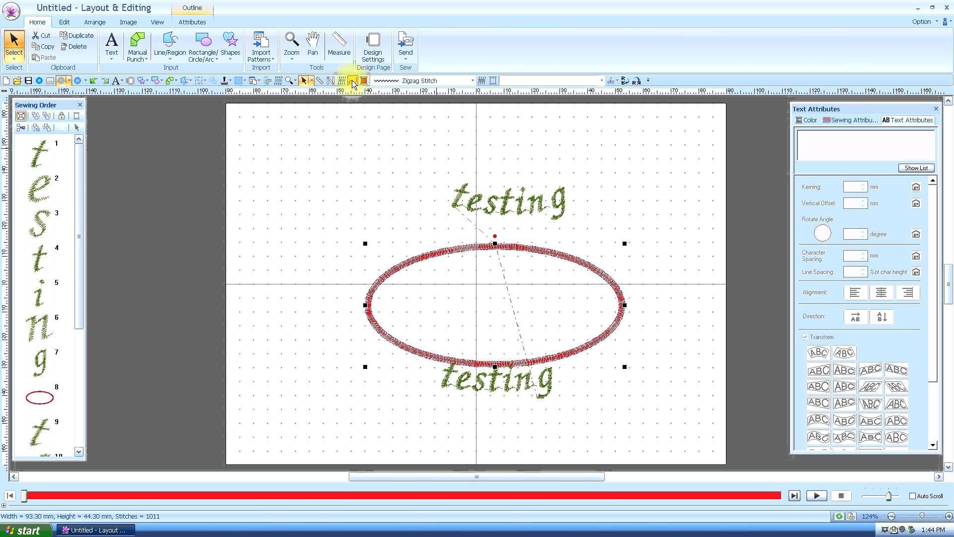 Brother PE Design Next: Transforming text (Lesson 19) | PE Design ...