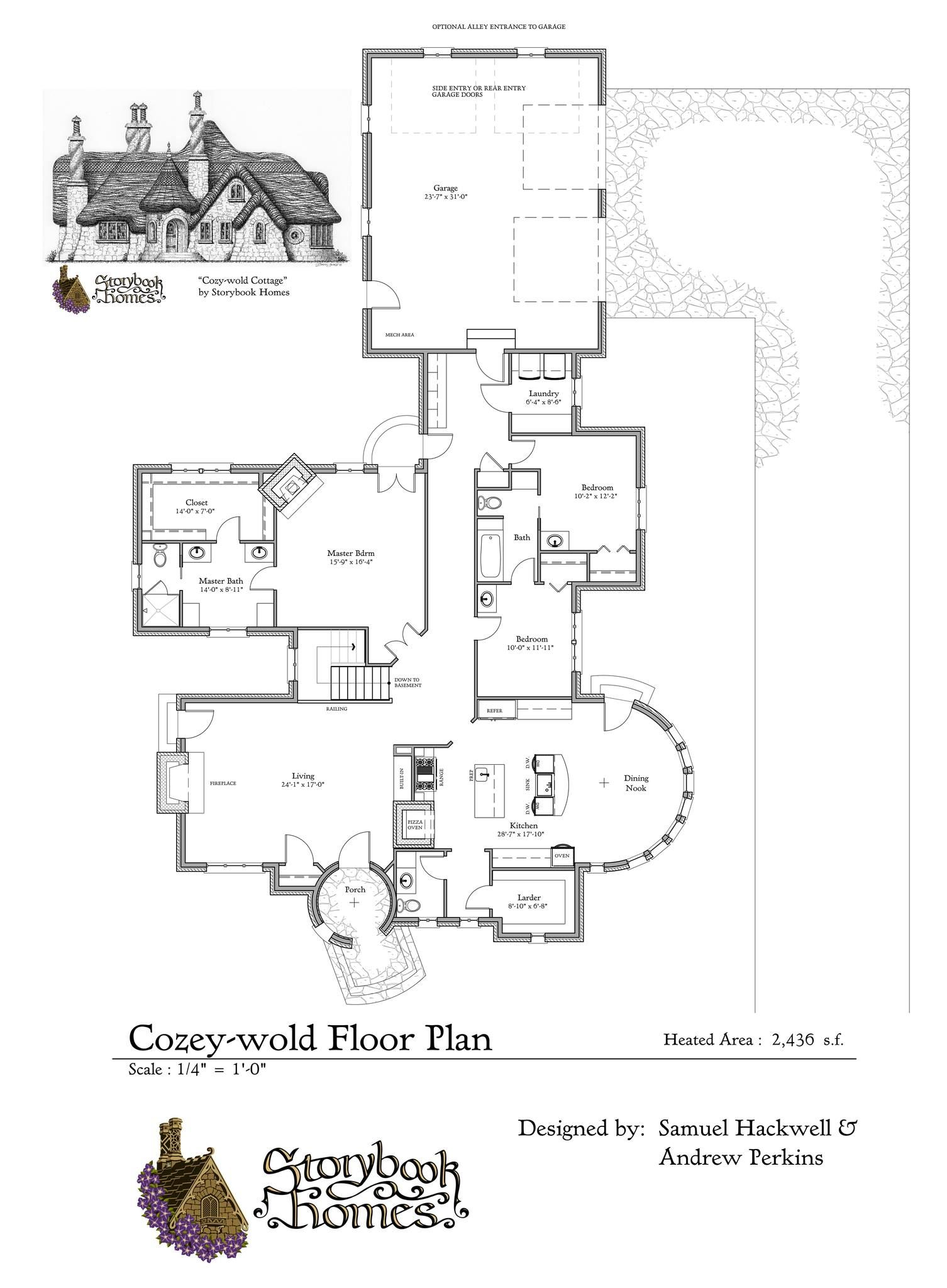 Storybook Homes Cozey Wold Cottage Storybook House Plan Cottage Floor Plans Cottage Plan
