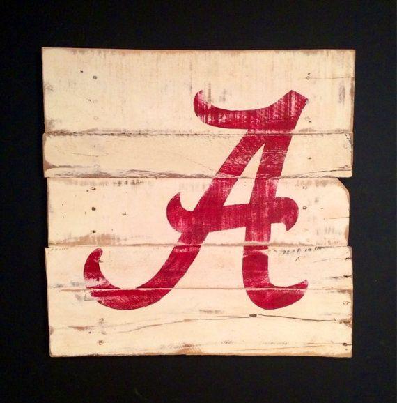 University Of Alabama Wall Hanging Alabama Crimson Tide Sign Alabama Wall Art On Etsy 40 00 Alabama Crimson Tide Alabama Crafts Alabama Decor