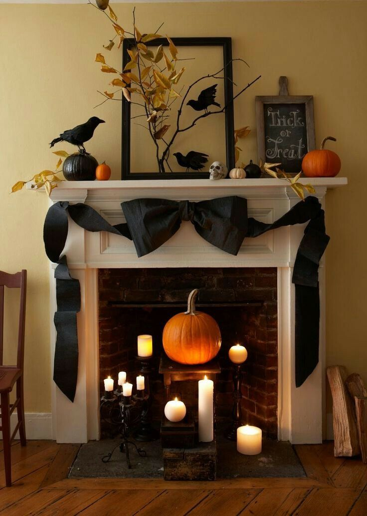 Pin by M M on Holiday decor Pinterest Mantel ideas, Halloween