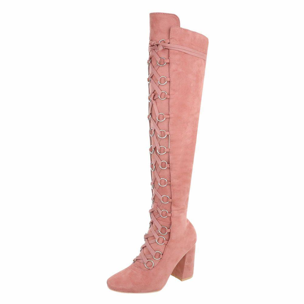 Details Zu Schnurer High Heels Overknee Stiefel Damenschuhe Designer Gr 37 Altrosa 0044 Lace Up High Heels Boots Over The Knee Boots