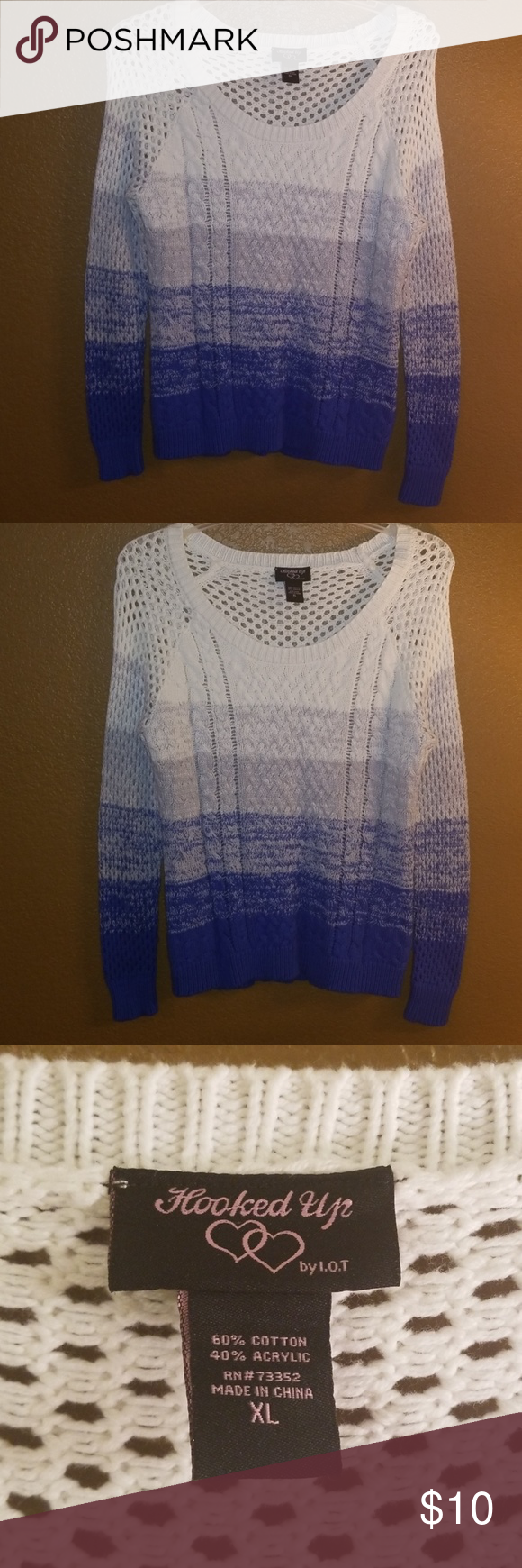 89c71ac7c87 Knitted blue and white sweater Blue and white sweaters. Great condition. Offers  welcome.