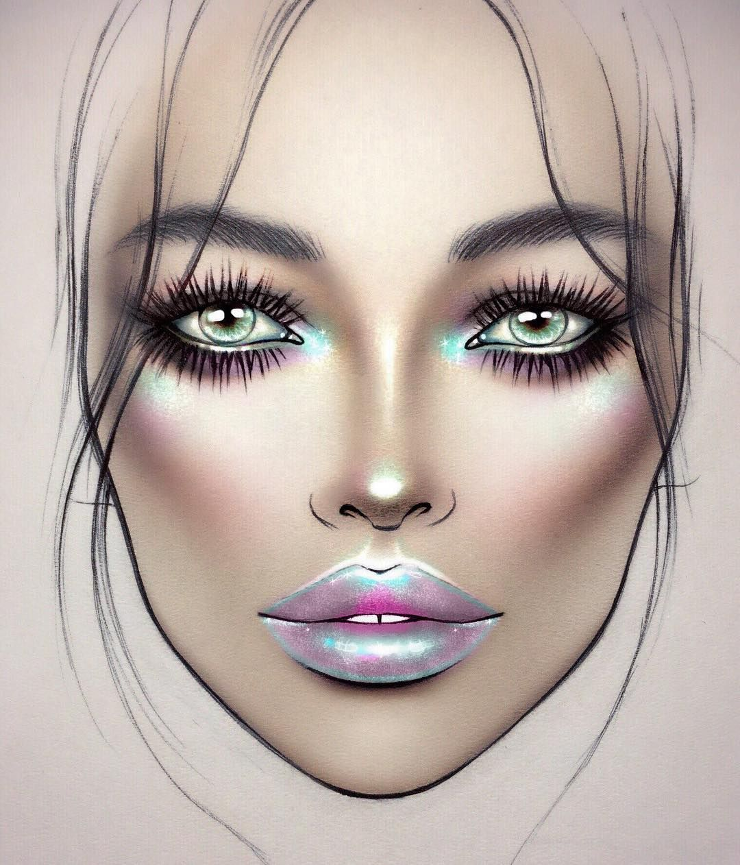 holographic face chart is killing it! Get your supplies to