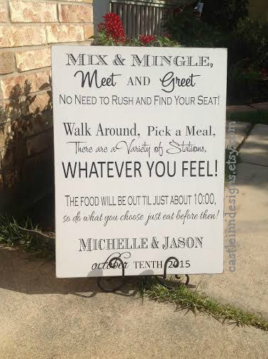 Items Similar To Personalized Wedding Seating Sign Mix Mingle Decor Reception On Etsy