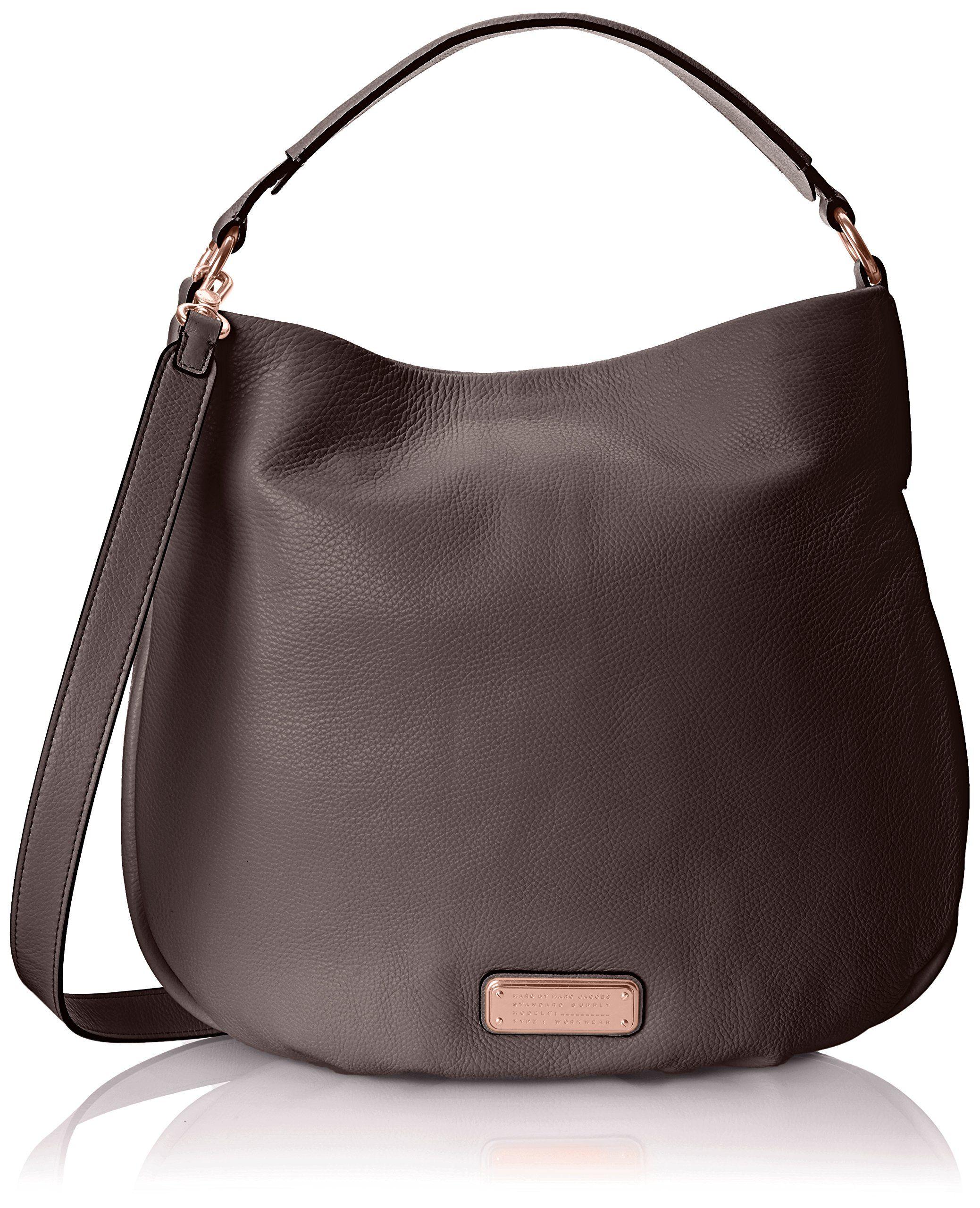 af5eda88af7 Marc by Marc Jacobs New Q Hillier Hobo Bag, Faded Aluminum, One Size ...