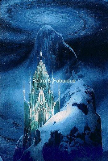 ice castle from disneys frozen metallic art home decor wall art