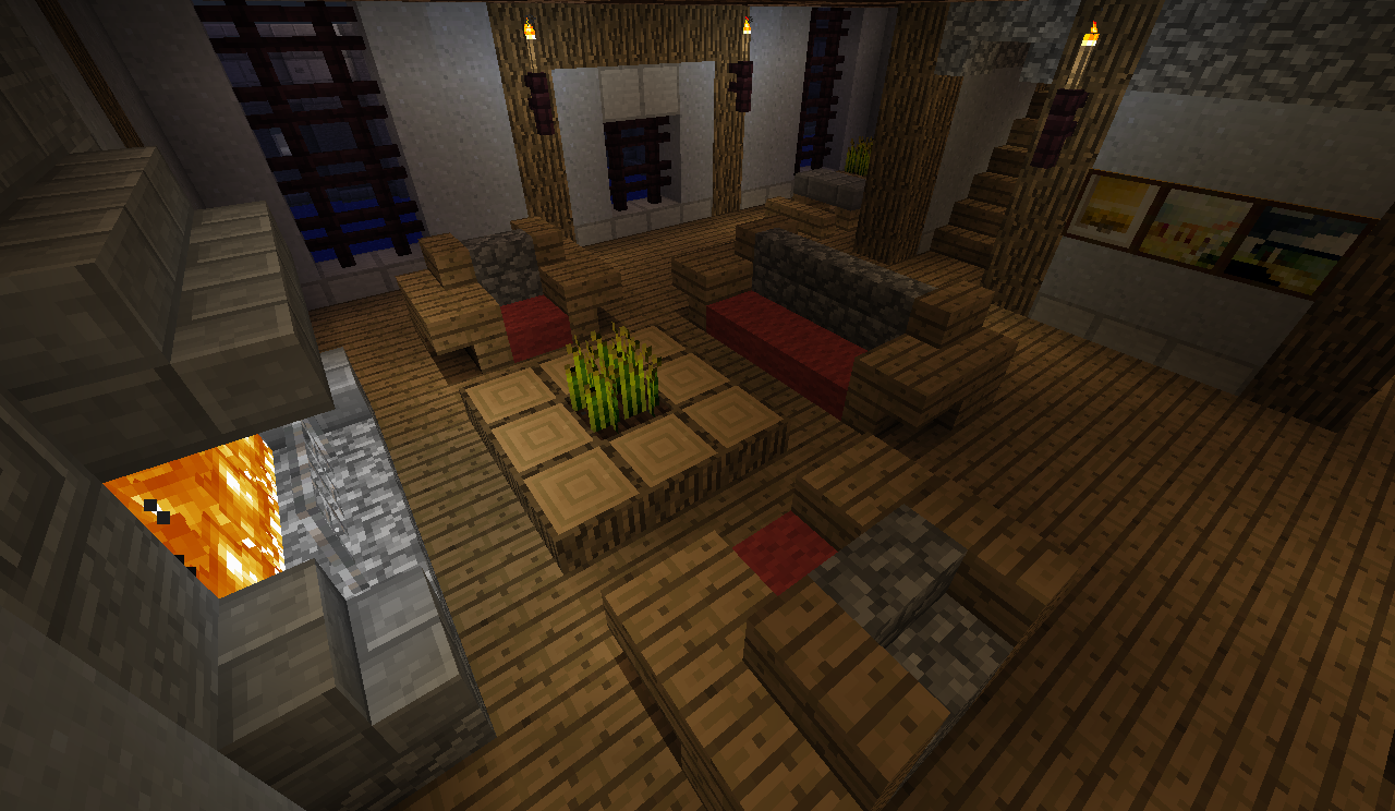 Minecraft furniture guide outside google search for Minecraft lounge ideas