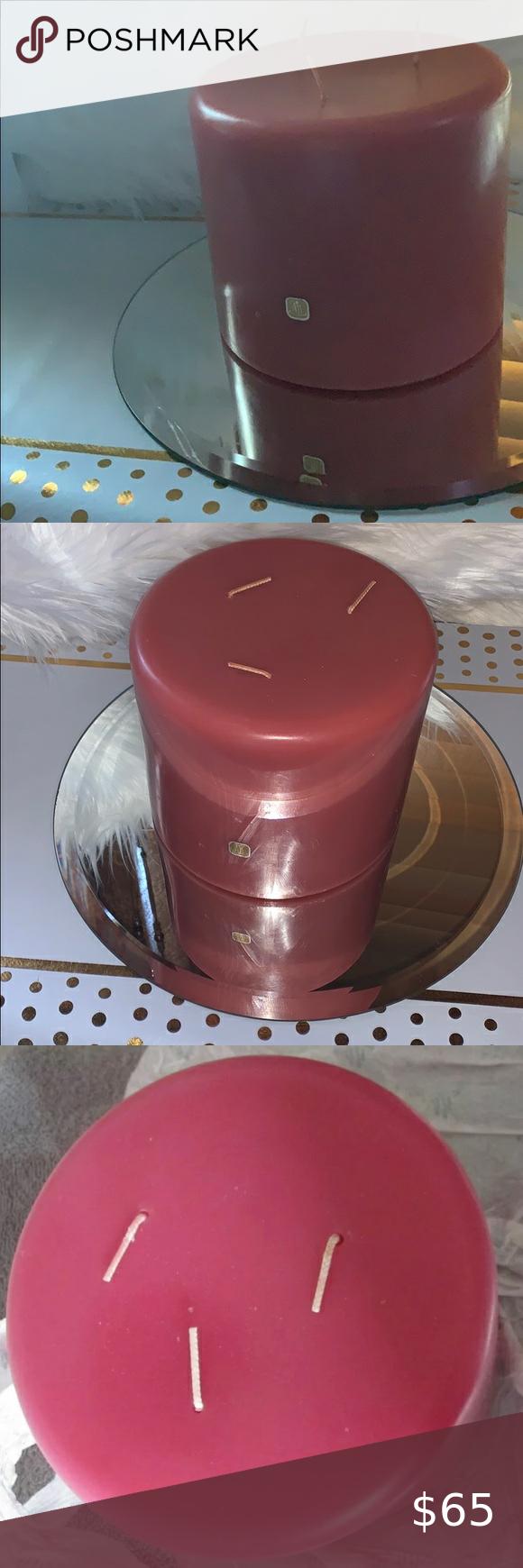 Red Tea Sweet Flag 3 Wick Partylite Pillar Candle In 2020 Pillar Candles Red Tea Sweet