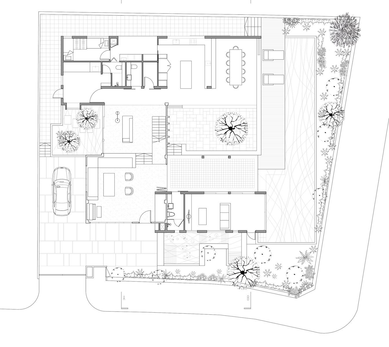 Gallery Of The Extended House Formwerkz Architects 12 Architect Architect House Ground Floor Plan