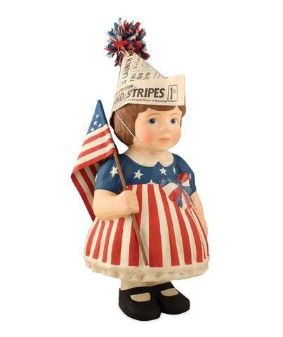 Little Betsy Ross - Large Paper Mache Figure