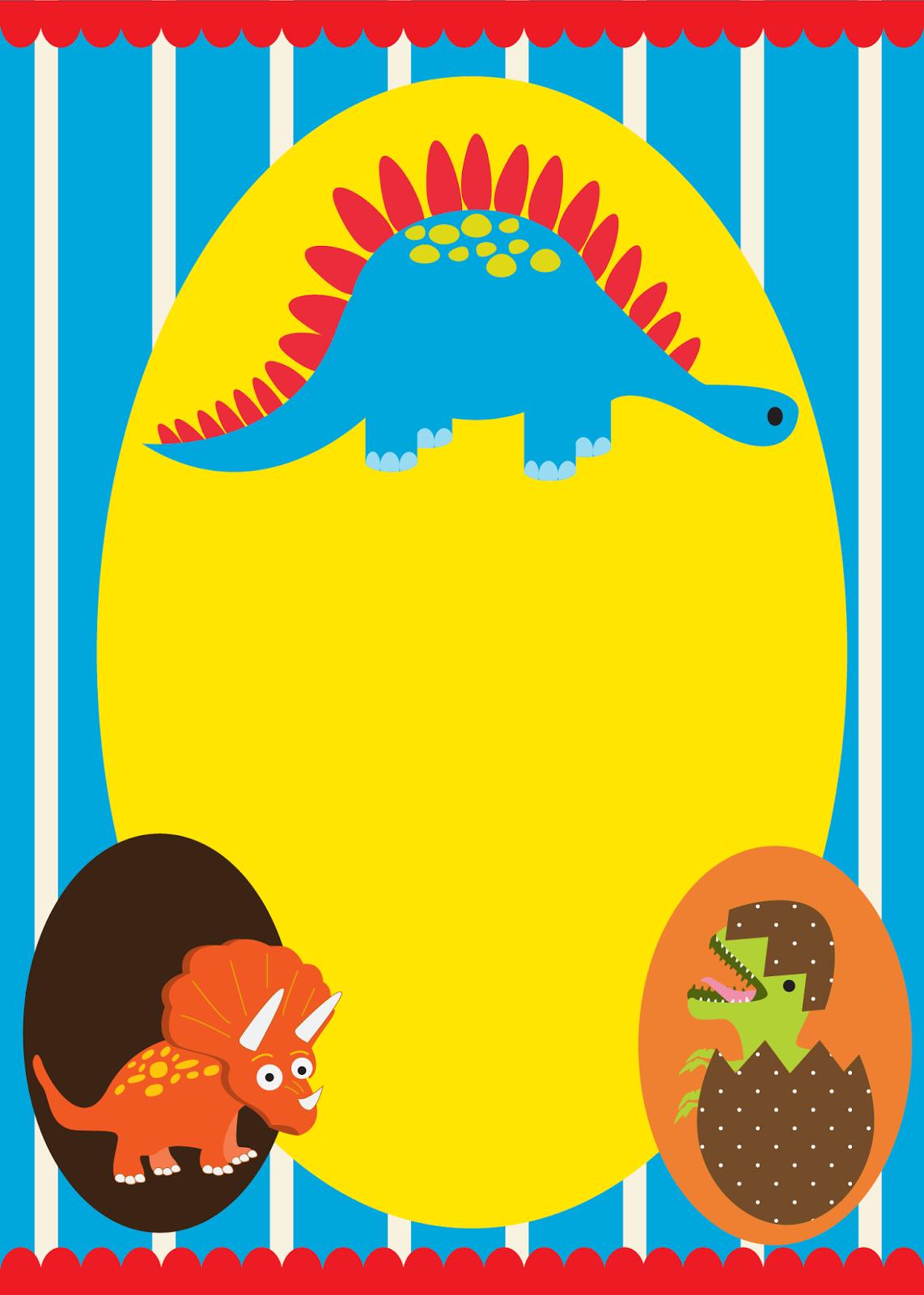 Invitaciones Para Fiesta De Dinosaurios Bebés Para Imprimir