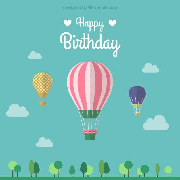 Feliz vetor balão de aniversário a Pinterest Happy birthday - birthday wish template