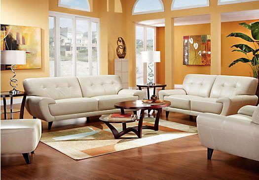 Midtown East Pearl Leather Living Room Collection Living Room Leather Living Room Sets Furniture Leather Living Room Furniture