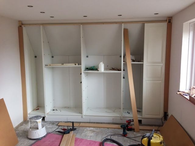 Fully functional ikea fitted wardrobe for sloping ceiling h h