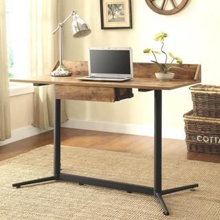 Shop For Industrial Design Vintage Writing/ Computer Desk. Get Free  Shipping At Overstock.