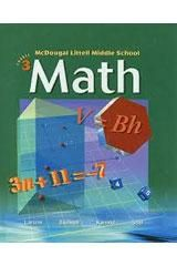 McDougal Littell Middle School Math Course 3 Student Edition © 2004 2004
