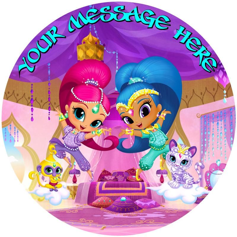 Shimmer & Shine And Pets Edible Cake / Cupcake Topper
