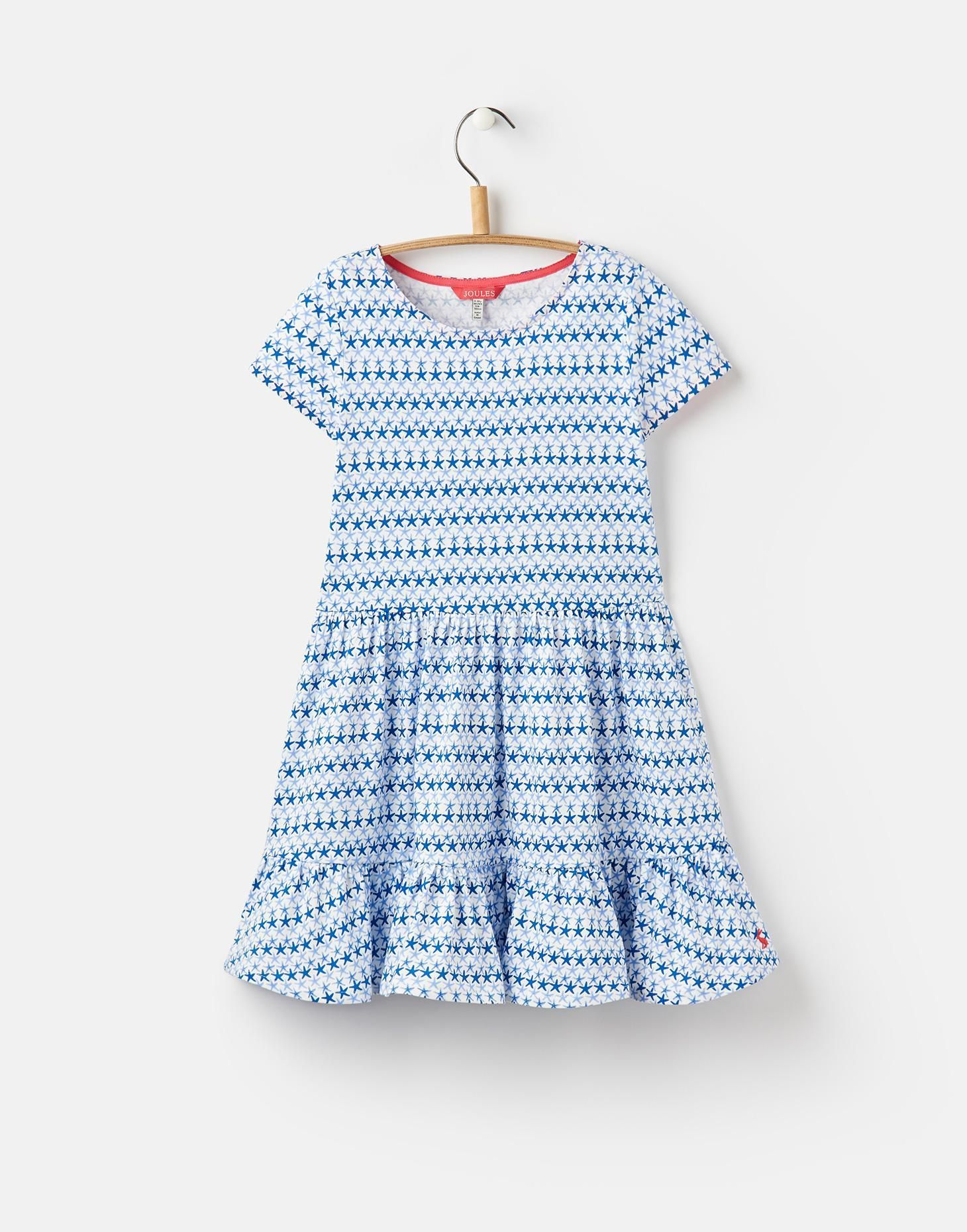 0e1aa3957e62 Coco Blue Star Fish Geo Peplum Dress 3-12yr | Joules UK | SS 2020 ...