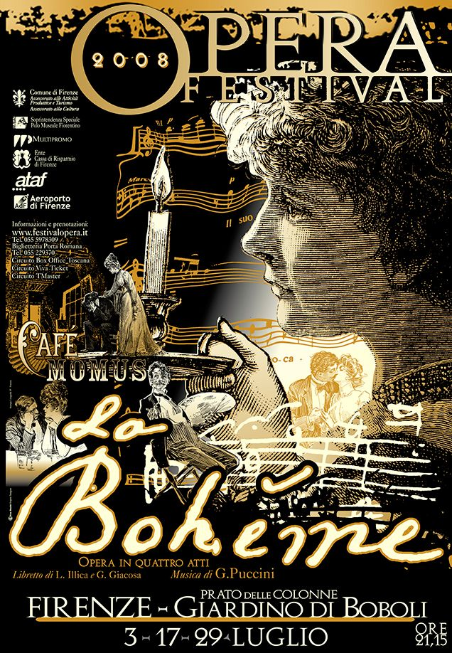 Emo Risaliti Lyric Opera Poster - La Boheme