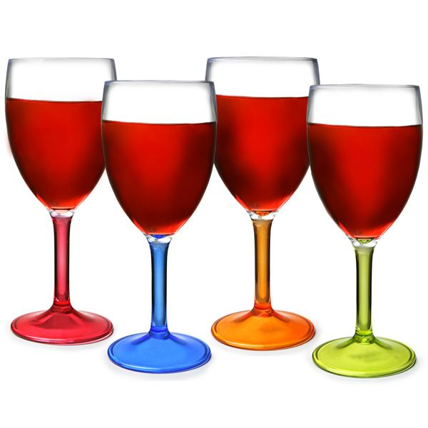 flamefield acrylic party wine glasses 10oz 290ml plastic wine glasses acrylic wine glasses