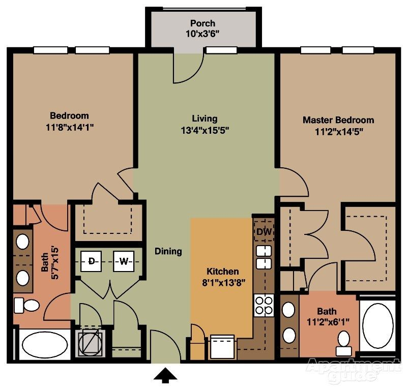 B1 2 bedroom 2 bathroom (With images) New house plans