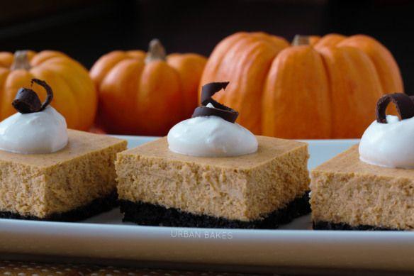 #Pumpkin #Cheesecake Squares with #Oreo-Pecan Crumb Crust   URBAN BAKES