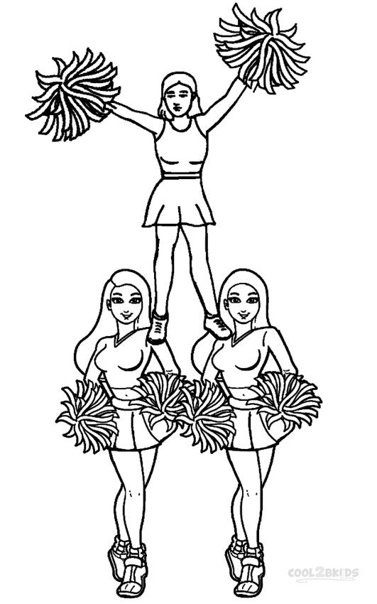 Cheerleading Coloring Pages Sports