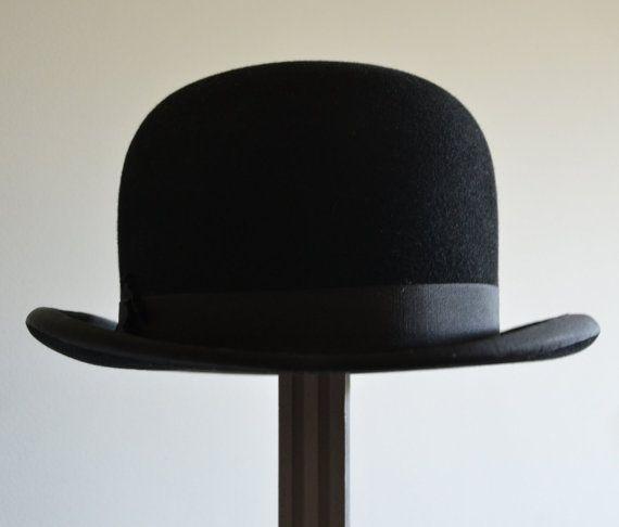 Bowler Hat Derby Hat Vintage French Beginning Of The Century Etsy Hats Vintage Derby Hats Bowler Hat