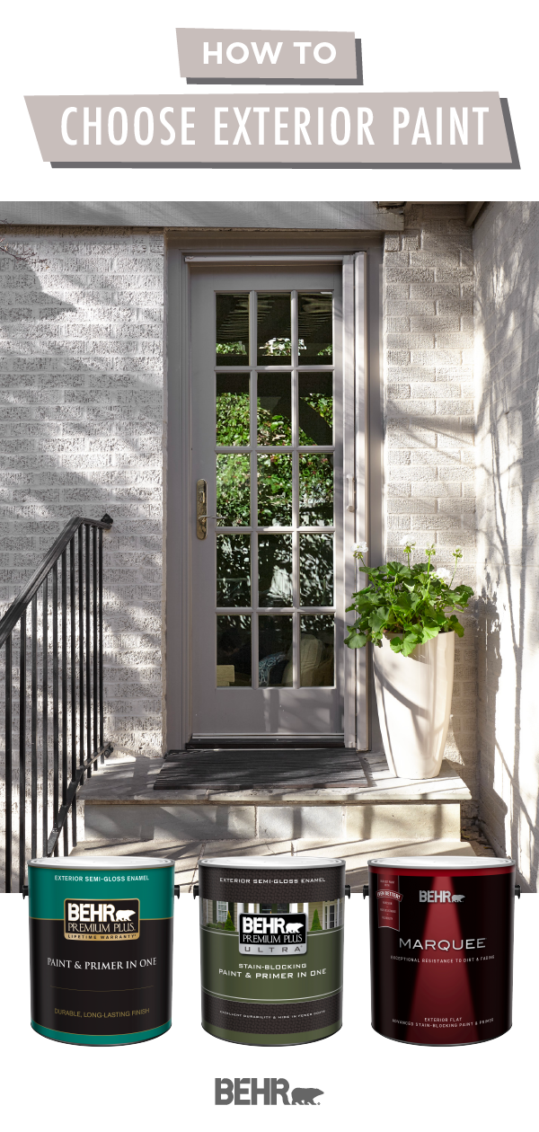When painting the outside of your home, choosing the right