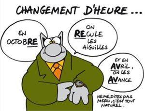 Moyen Memotechnique Pour Retenir Le Changement D Heure Changement D Heure Le Chat Geluck L Heure