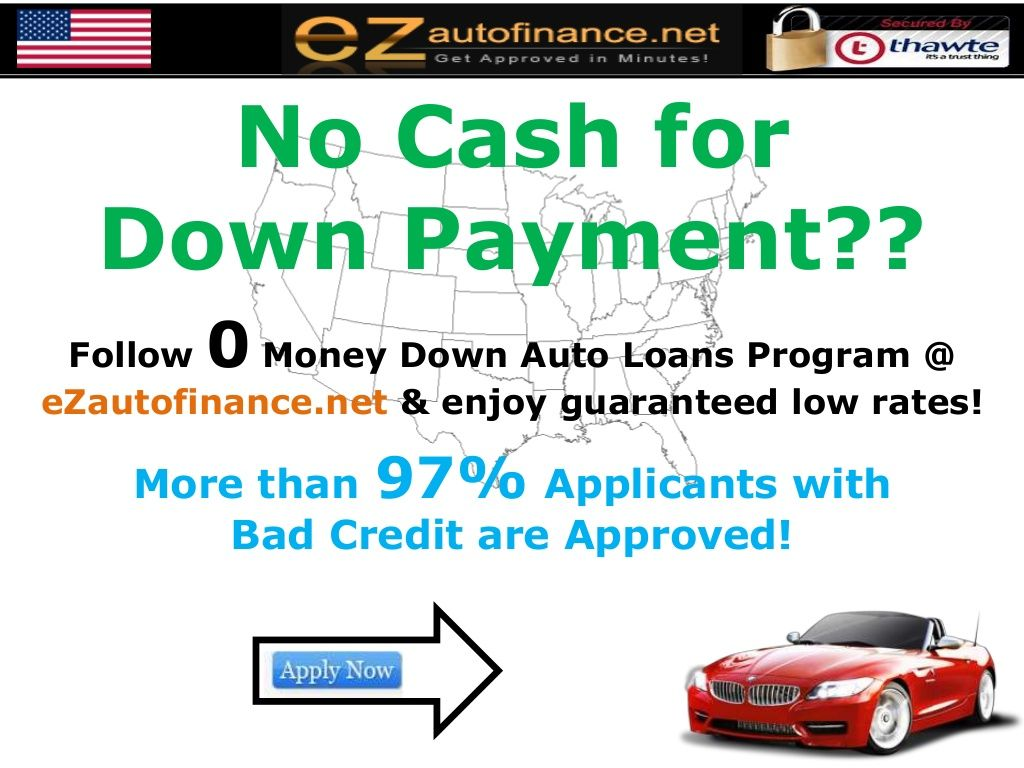 No down payment auto loans program for bad credit scores