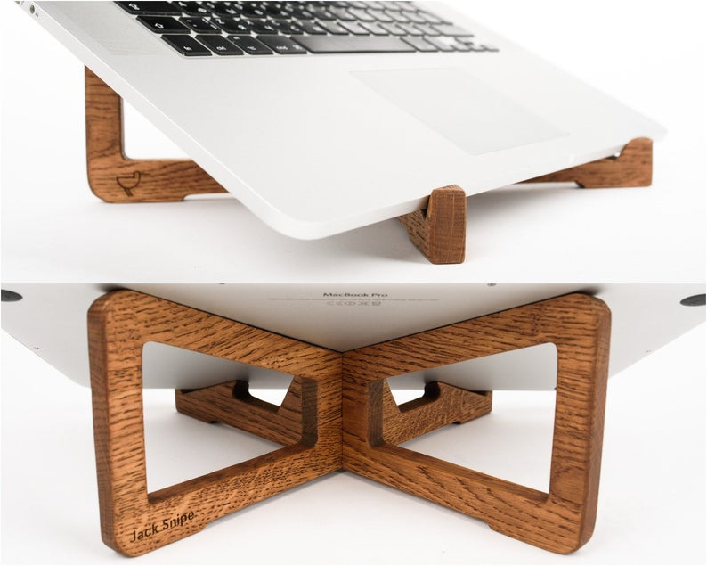 Macbook Stand Macbook Pro Table Stand Wood Macbook Holder Etsy Macbook Pro Macbook Headphone Stands
