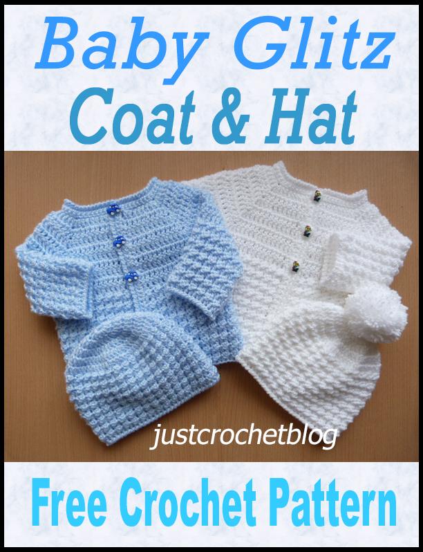 Crochet Baby Glitz Coat And Hat Crochet Baby Cardigan Free Pattern Crochet Baby Gli In 2020 Crochet Baby Sweater Pattern Baby Sweater Patterns Crochet Baby Jacket