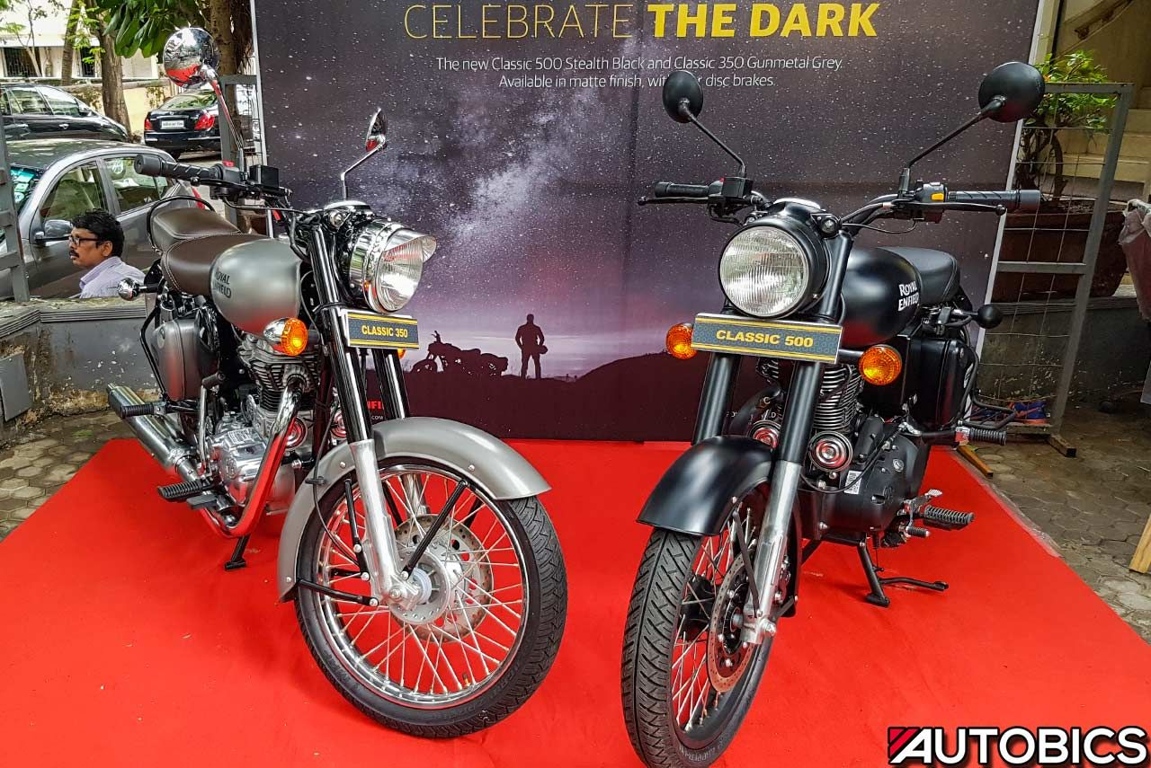 Royal Enfield Classic 350 Gunmetal Grey and Classic 500 ...